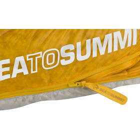 Sea to Summit Spark SpIII Sleeping Bag long, light grey/yellow